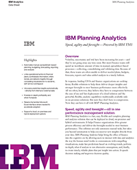 IBM Planning Analytics Data Sheet